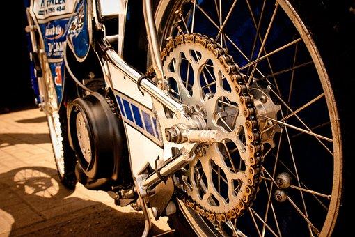 Speedway, Pinion Gear, Rear Wheel, Motorsport, Racing