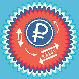 Russian Ruble, Russia Rub, P Badge, Dollar Sign
