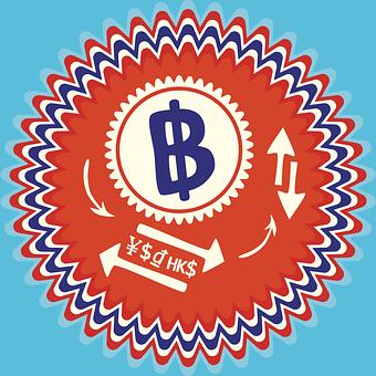Thai Baht, Thailand Thb, B Badge, Dollar Sign