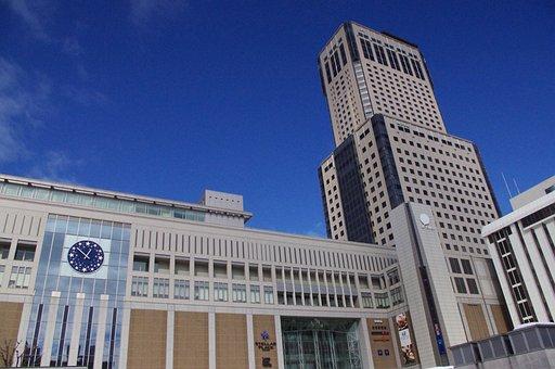 Japan, Hokkaido, Sapporo, Sky, Train, Tourism, Blue