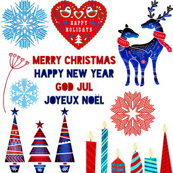 Christmas, Scandia, Scandivian, Winter, Postcard