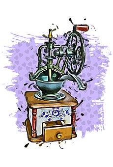 Coffee, Grinder, Old, Crank, Mill