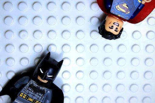 Batman, Superman, Superhero, Comic, Friendship, Lego