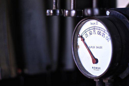 Pressure Gauge, Gauge, Pressure, Valves, Metal, Dial