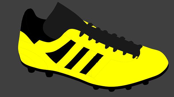 Shoes, Footwear, Fashion, Yellow, Black, Single, One