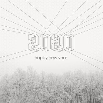 Happy New Year, New Year, New Year Day, Postcard