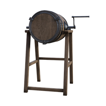 Whiskey, Barrel, Crank, Stand, Wooden, Old, Bourbon