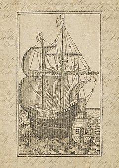 Vintage, Sailing Vessel, Cog Ship, Old, Seafaring