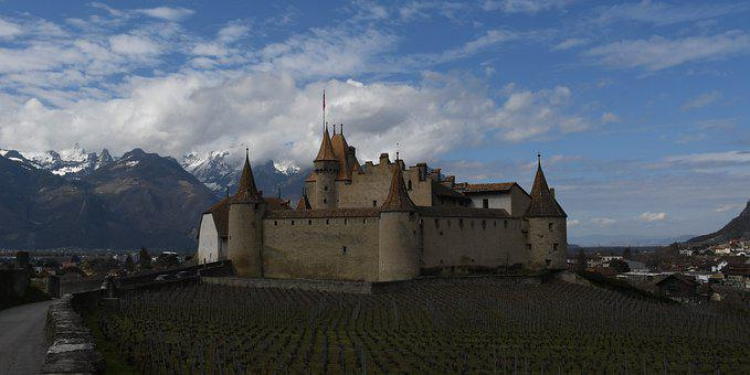 Castle, Chateau, Swiss, Switzerland, Suisse, Aigle