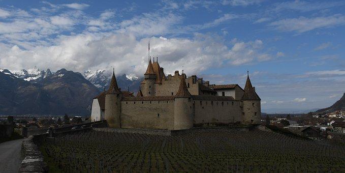 Castle, Chateau, Swiss, Switzerland