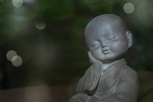 Figure, Boy, Stone, Sleeping, Dreaming, Rest, Meditate