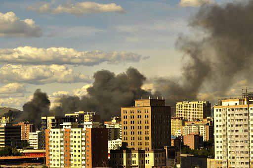 Fire, Building, City, Destruction, Disaster, Smoke