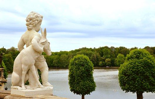 Statue, Moritzburg, Castle Pond, Baroque, Historical