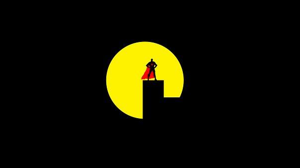 Superman, Ny, City, Nigh, Men, Skyline, Action, Power