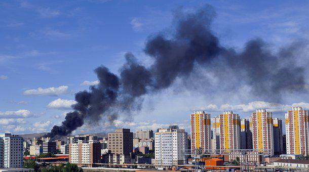Fire, City, Building, Smoke, Disaster, Urban, Downtown