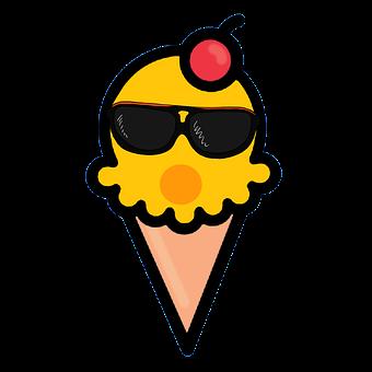 Ice Cream, Waffles, Food