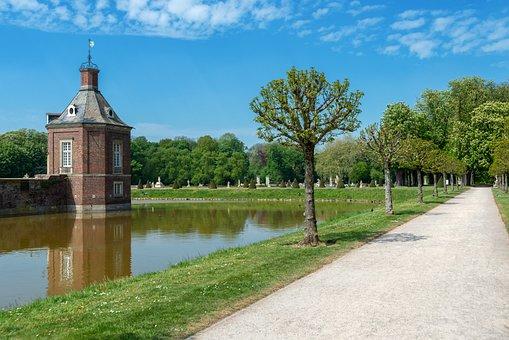 Castle, North Churches, Münsterland, Garden, Park