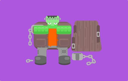 Frankenstein, Halloween, Green, Fear, Cartoon, Man