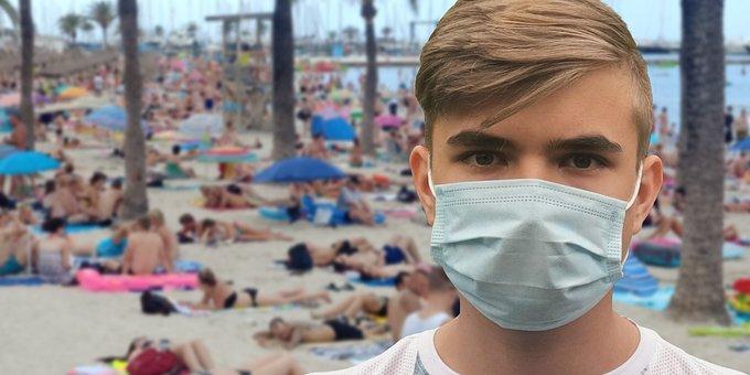 Tourism, Corona, Beach, Infection, Sea, Mask, Face