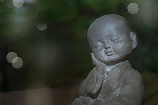 Figure, Boy, Stone, Sleeping, Dreaming, Rest, Meditate