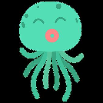 Octopus, Sea, Ocean, Squid, Fish, Water