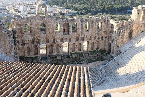 Greece, Athens, Herodes Atticus, Acropolis, Odeon