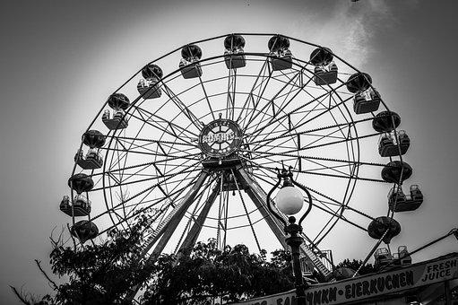 Park, Lunapark, Wheel, Mill, Carousel, Entertainment