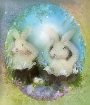 Easter, Easter Bunny, Rabbit, Greeting Card