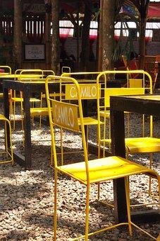 Restaurant, A Coffee Shop Café, Brown, Architecture