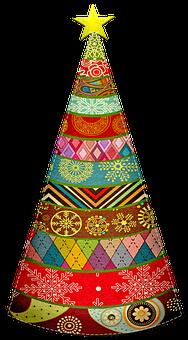 Christmas Tree, Felt, Stitched, Fabric Tree, Christmas