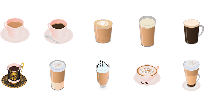 Coffee, Varieties, Vector, Items From This Collection