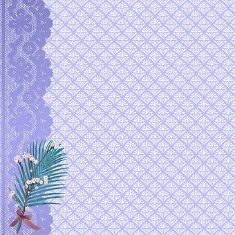 Digital Paper, Lavender, Lace, Scrapbooking, Vintage