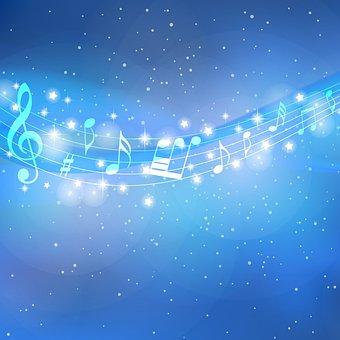 Stars Digital Paper, Stripes, Stars, Music Notes