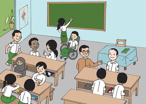 Burma, Myanmar, Classroom, Boy, Girl, Children, Teacher