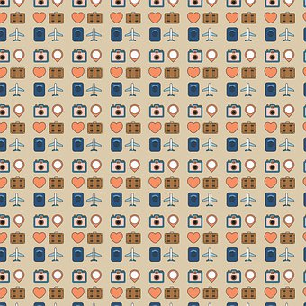 Digital Paper, Pattern, Travel, Passport, Luggage