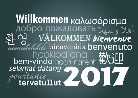 Welcome, 2017, New Year's Day, Turn Of The Year, Year