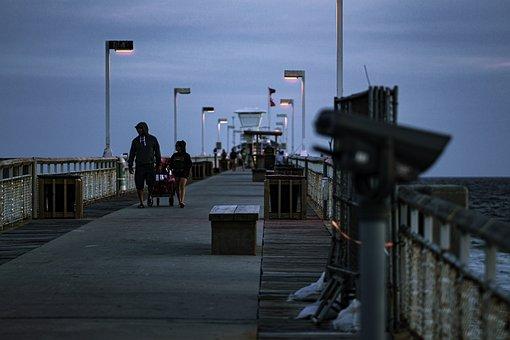 Pier, Fishing, Ocean, Dock, Beach