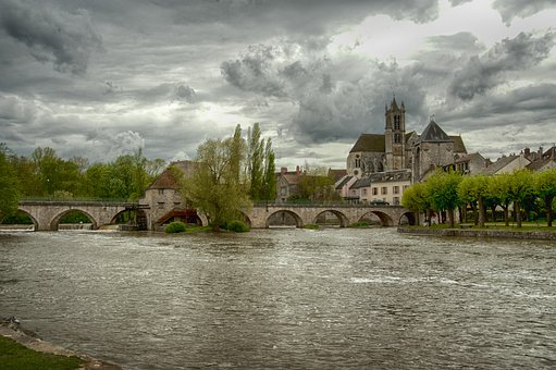 Moret-sur-loing, Church, France, Seine And Marne