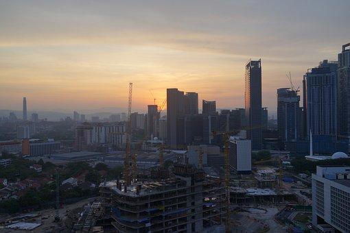 Dawn, Tropical, Dat Break, Asian Construction Site