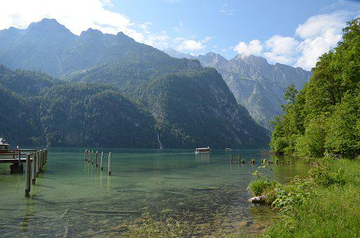 Königssee, Lake, Bergsee, Bavaria, Berchtesgaden