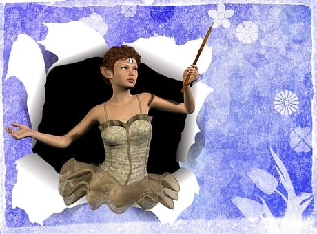 Greeting Card, Fairy, Wand, Stationary, Greeting, Card