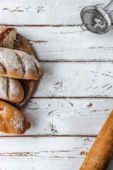 Flour, Bread, The Dough, Bake, Bakery, Fresh, Baguette