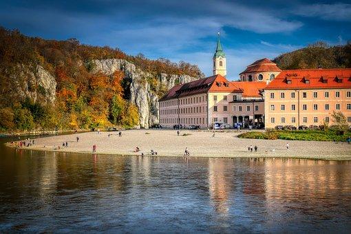 Monastery, Weltenburg, Danube Gorge, Danube, River