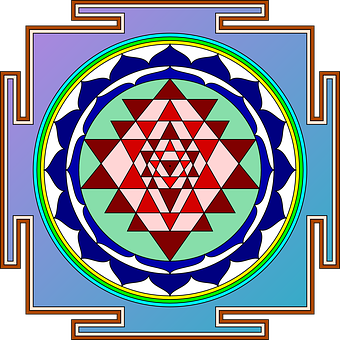 Sri Yantra, Object, Devotion, Hindu, Geometric