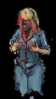 Zombie, Girl, Woman, Halloween, Fear, Horror, Creepy