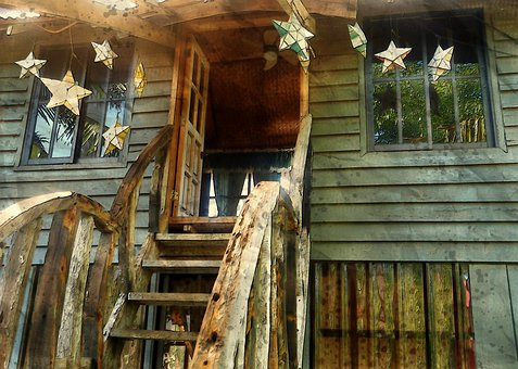 Wooden Old Stairs, Facade, Old, Vintage