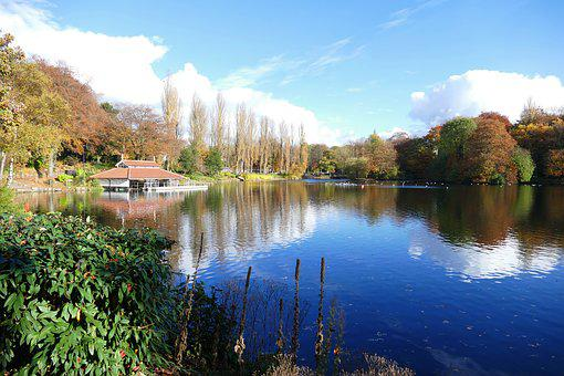 Walsall Arboretum, Walsall, Lakes, Attraction, Autumn