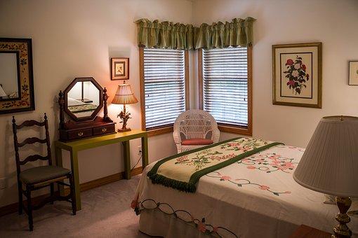Bedroom, Guest Room, Bed Chamber, Duvet, Linens