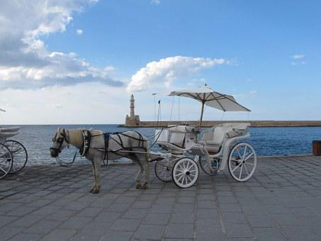 Coach, Horse, Horse Drawn Carriage, Wagon, Lighthouse