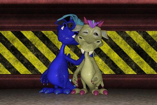 Dragon, Friends, Companionship, Hazard